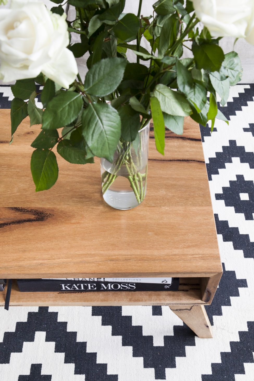 Vintage style coffee table in Marri timber